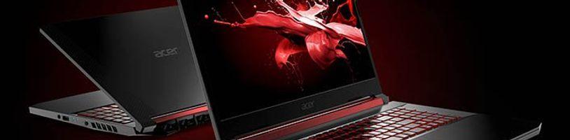 Acer Nitro 5 Obsidian Black je nabušený, hlavně díky procesoru Coffee Lake